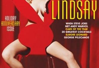 """La Revista Playboy con el cover de Lindsay Lohan esta """"rompiendo récord de ventas"""", según Hugh Hefner"""