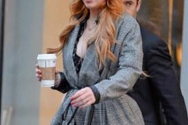 Lindsay Lohan ya siente el frío en Nueva York