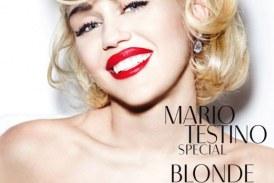 Miley Cyrus posó en topless para Mario Testino emulando a Marilyn Monroe