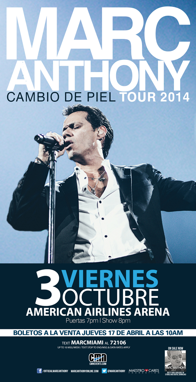 Mark Anthony Tour USA 2014 @ America Airlines Arena | Miami | Florida | United States