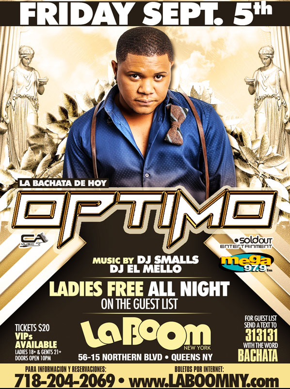 Optimo in New York 2014 @ La Boom | New York | United States