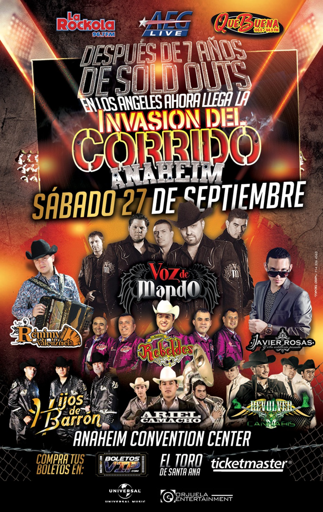 Invasion del Corrido  @ Anaheim Convention Center | Anaheim | California | United States