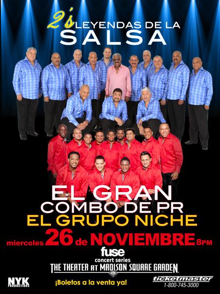 El Gran Combo de Puerto Rico y Grupo Niche @ The Theater at Madison Square  | New York | New York | United States