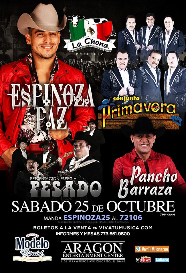Espinoza Paz @ Aragon Entertainment Center
