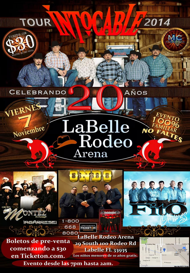Intocable & Montez @ La Belle Rodeo Area | LaBelle | Florida | United States