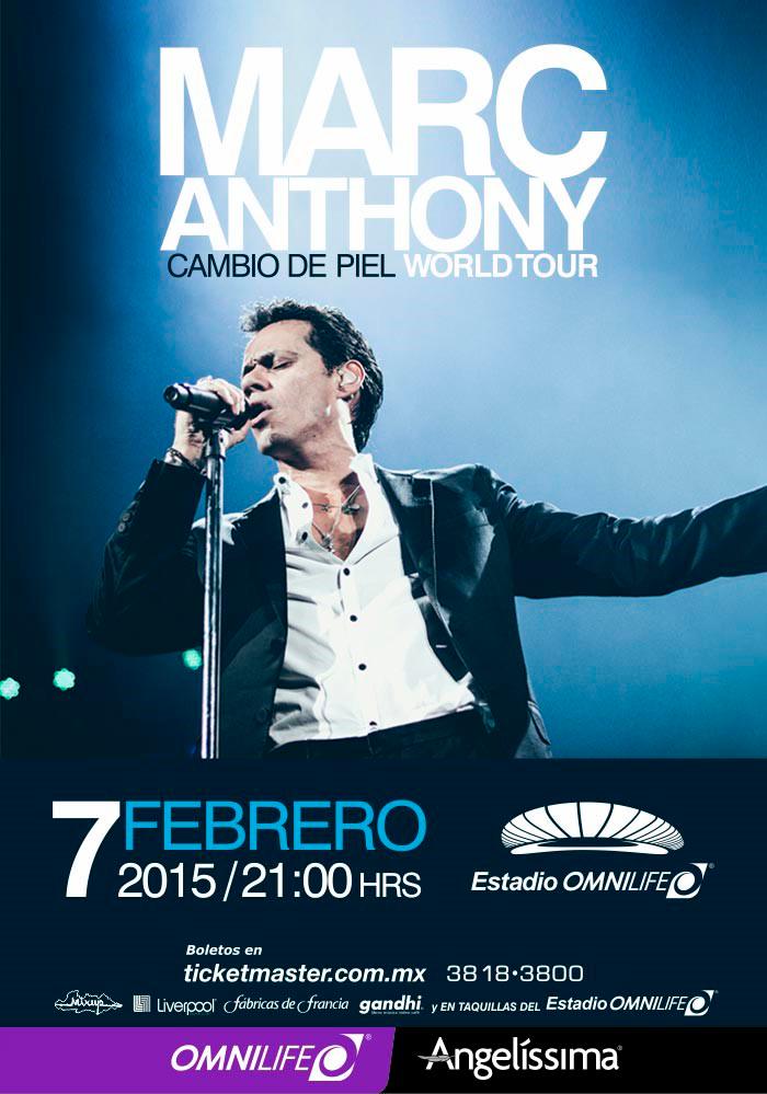 Marc Anthony cambio de piel World Tour @ Estadio OMNILIFE | Zapopan | Jalisco | Mexico
