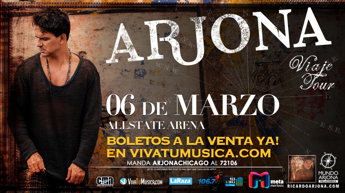 Ricardo Arjona Tour USA @ Allstate Arena | Rosemont | Illinois | United States