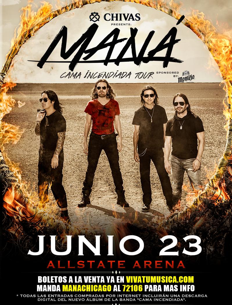 """MANA Tour """"CAMA INCENDIADA"""" @ Allstate Arena"""