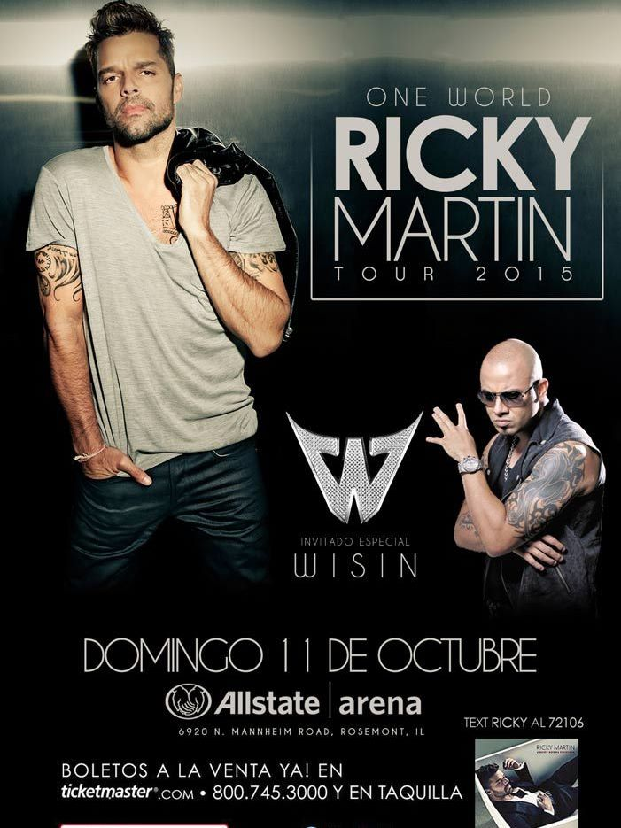 Ricky Martin One World Tour 2015 @ Allstate Arena | Rosemont | Illinois | Estados Unidos