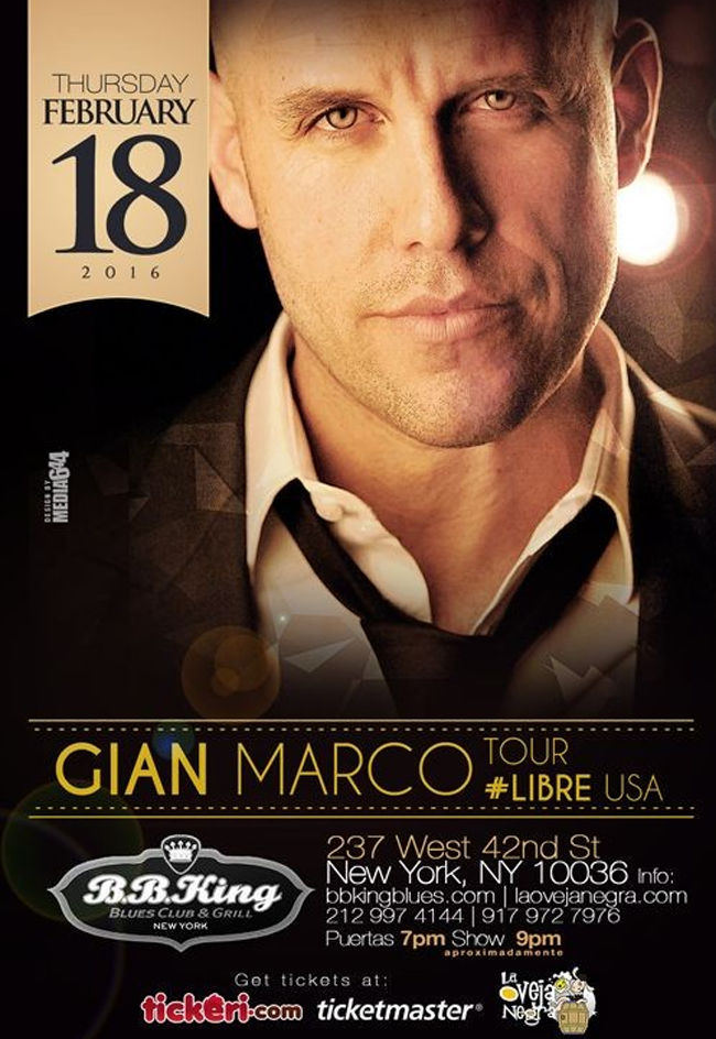 Gian Marco @ B.B. King Blues Club & Grill  | New York | New York | United States