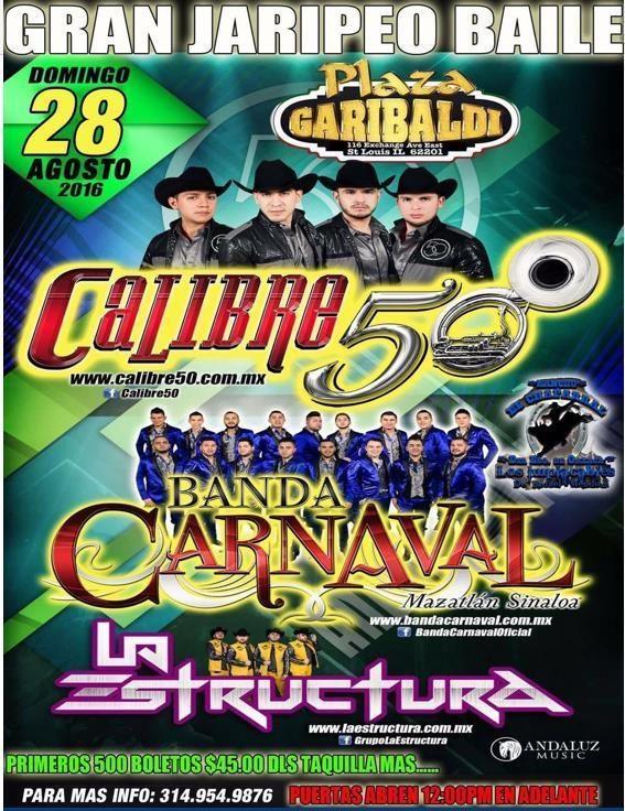 CALIBRE 50, BANDA CARNAVAL @ Plaza Garibaldi | East Saint Louis | Illinois | United States