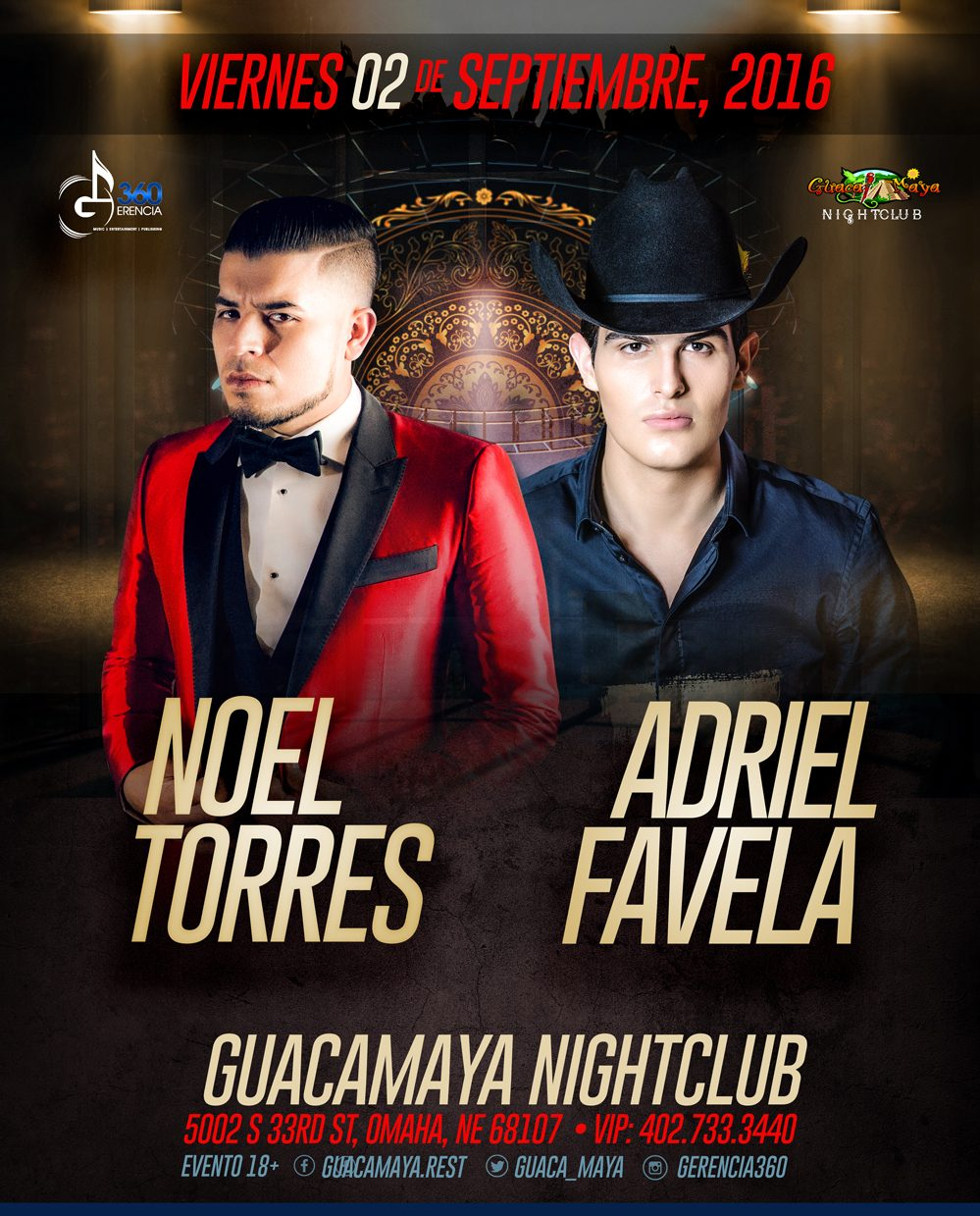 NOEL TORRES & ADRIEL FAVELA @ Guacamaya Night Club | Omaha | Nebraska | United States