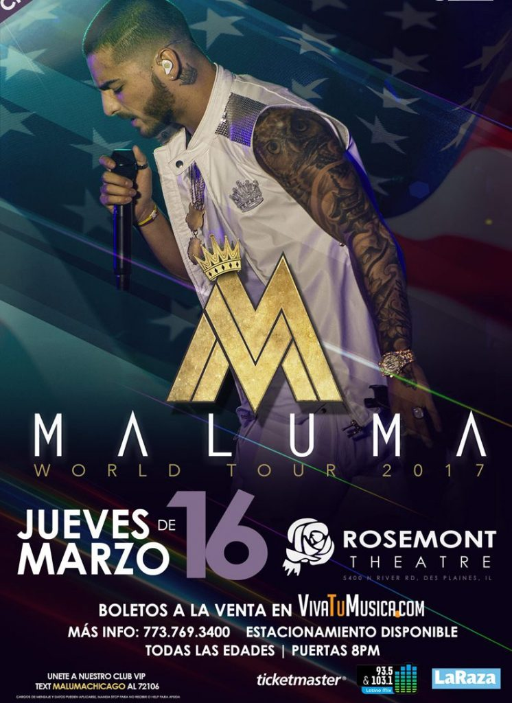 Maluma – Rosemont Theatre @ Rosemont Theatre | Rosemont | Illinois | United States