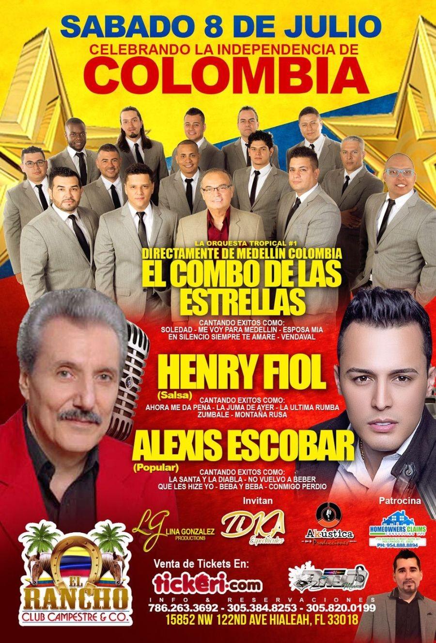 El Combo de Las Estrellas,Henry Fiol & Alexis Escobar en Hialeah,FL @ El Rancho Miami | Hialeah | Florida | United States