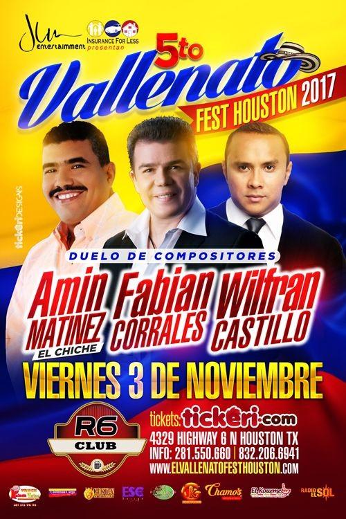 VALLENATO FEST HOUSTON 2017 @ R6 Sports Bar  | Houston | Texas | United States