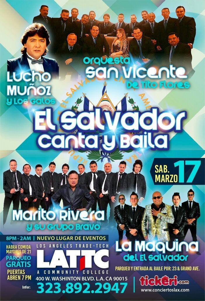 El Salvador Canta y Baila con Orquesta San Vicente, Lucho Munoz, Marito Rivera y La Maquina @ LATTC  | Los Angeles | California | United States