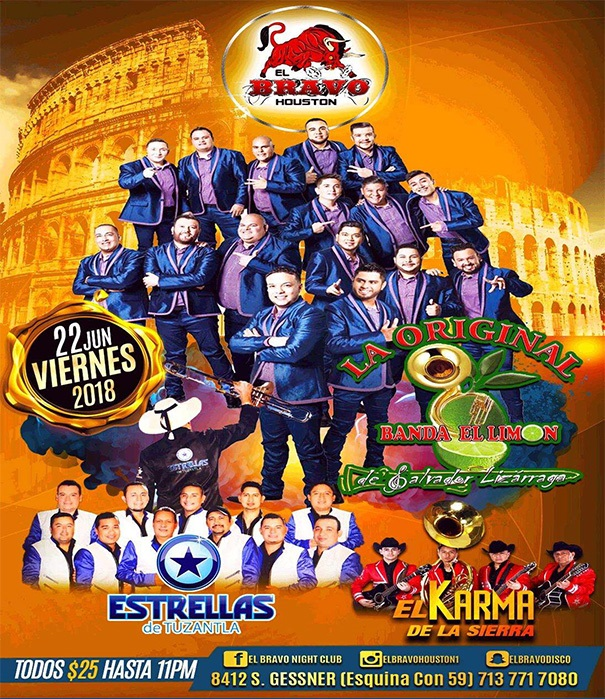 LA ORIGINAL BANDA EL LIMON @ Bravo Night Club  | Houston | Texas | United States