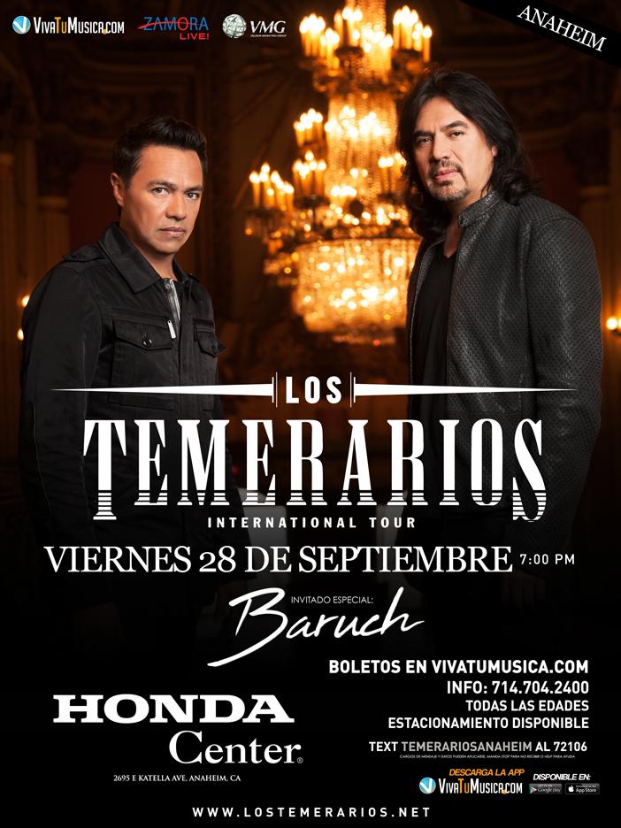 Los Temerarios – Anaheim, CA @ Honda Center  | Anaheim | California | United States