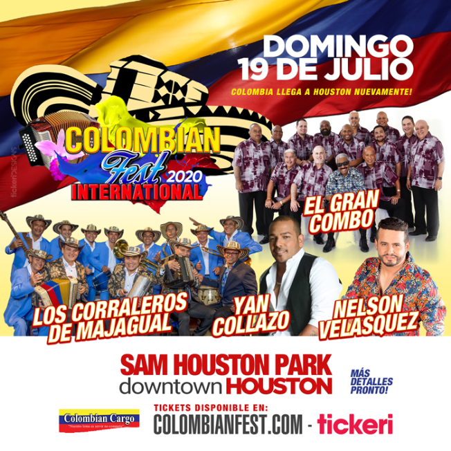 Colombian Fest International 2020 en Houston,TX @ Downtown